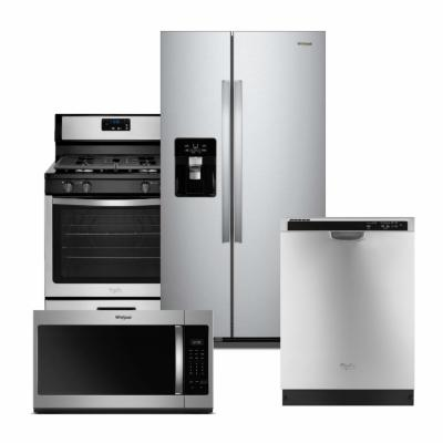 Whirlpool Stainless Steel Package with Fingerprint Resistant