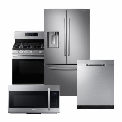 Samsung Stainless Steel Package with 3 Door French Door Refrigerator