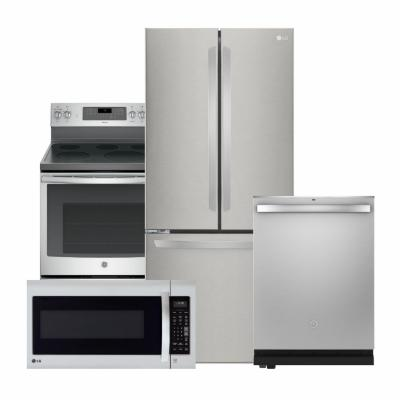 LG Electronics Stainless Steel Package with French Door Refrigerator