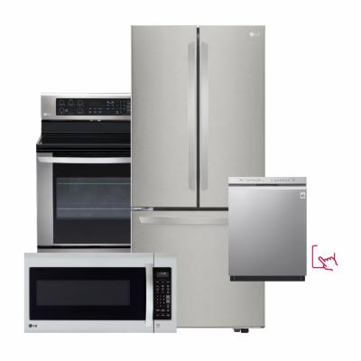 LG Stainless Steel Package with French Door Refrigerator