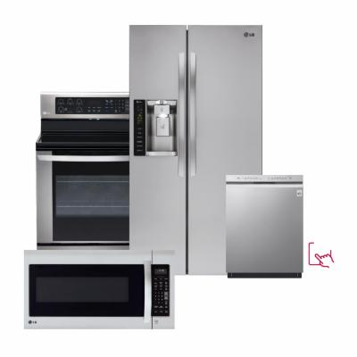 LG Stainless Steel Package with Side by Side Smart Refrigerator