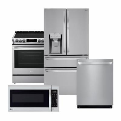 LG Stainless Steel Package with Full Convert with Craft Ice Refrigerator