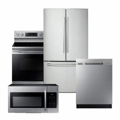 Samsung Stainless Steel Package with French Door Refrigerator
