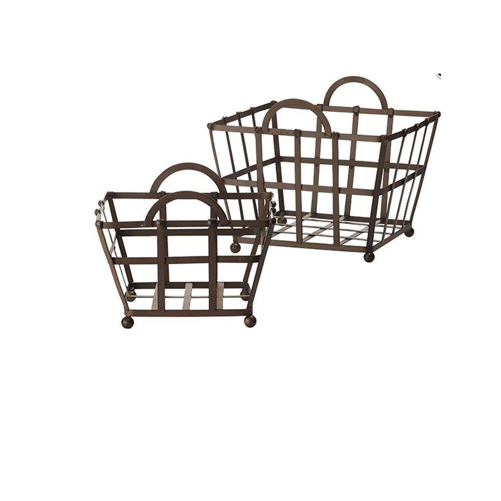 Home Decorators Collection Connor Rustic Iron Baskets (Set of 2)