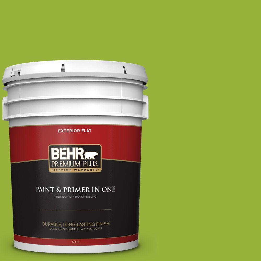 5-gal. #410B-7 Bamboo Leaf Flat Exterior Paint