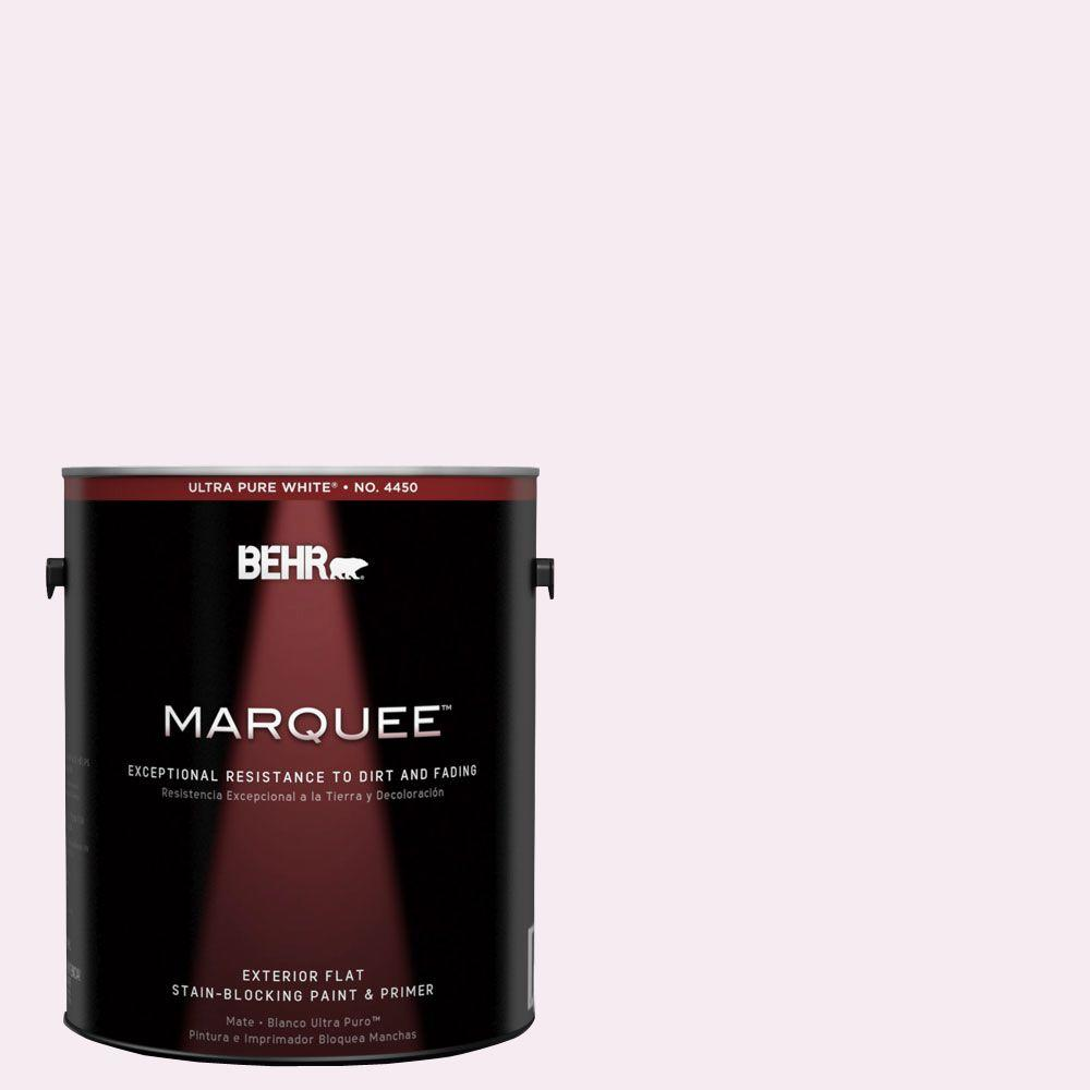 1-gal. #100A-1 Barely Pink Flat Exterior Paint