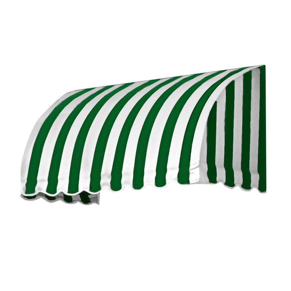 AWNTECH 3 ft. Savannah Window/Entry Awning (31 in. H x 24 in. D) in Forest/White Stripe