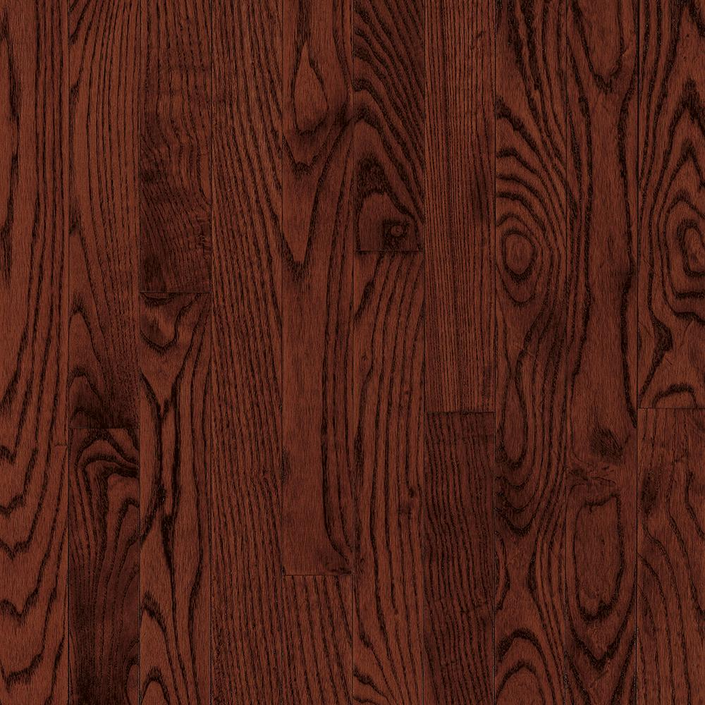Bruce bayport oak cherry 3 4 in thick x 2 1 4 in wide x for Solid hardwood flooring