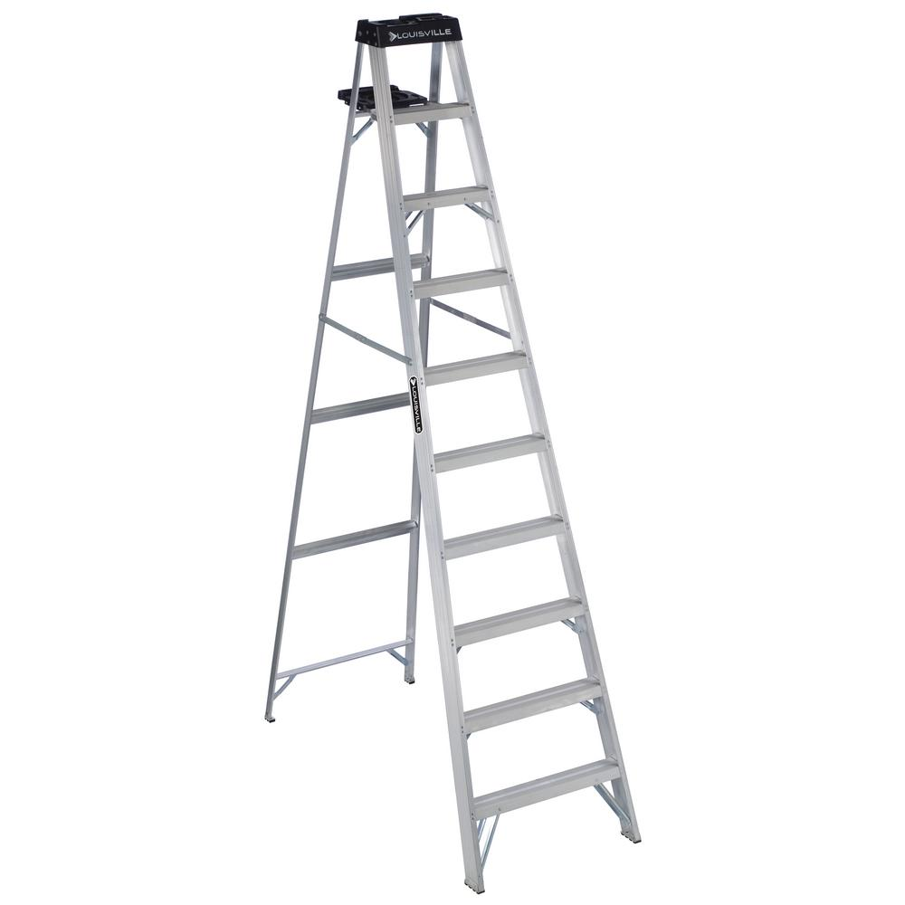 10 ft. Aluminum Step Ladder with 300 lbs. Load Capacity Type