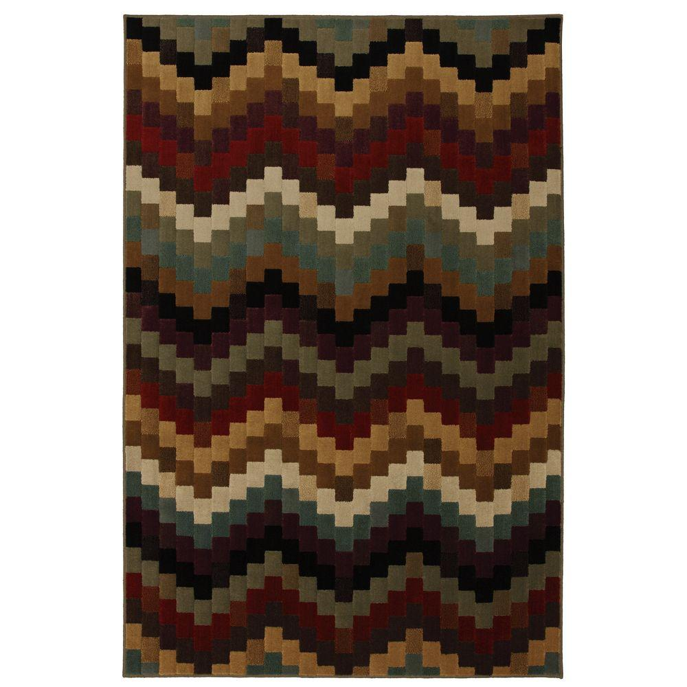 Mohawk Bargello Multi 5 ft. 3 in. x 7 ft. 10 in. Area Rug