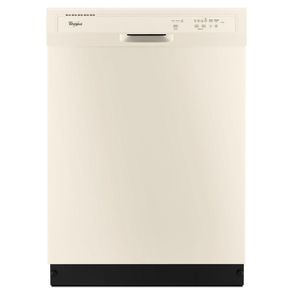 Whirlpool Front Control Dishwasher in Biscuit-WDF320PADT - The Home Depot
