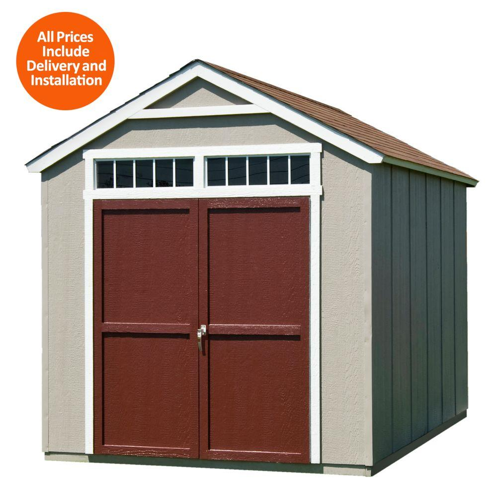 Installed Majestic 8 ft. x 12 ft. Wood Storage Shed with