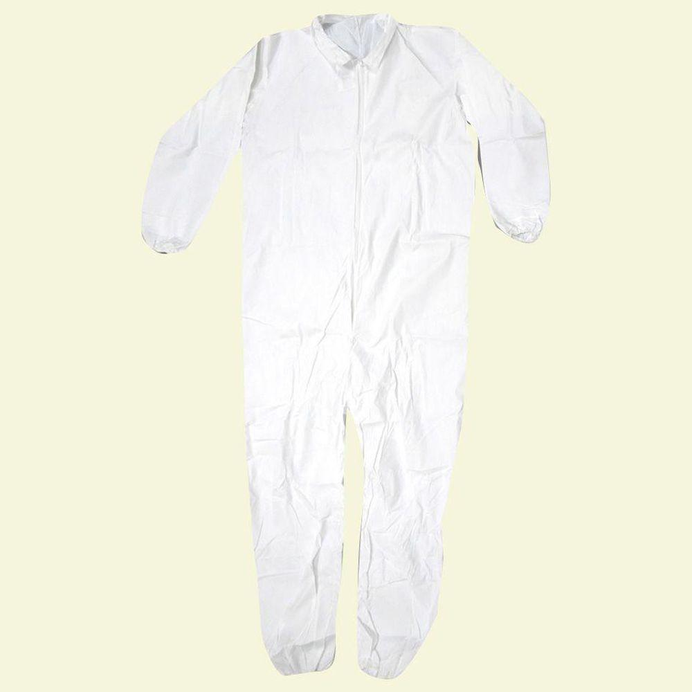Trimaco 2XL White Lightweight Coverall-09957 - The Home Depot