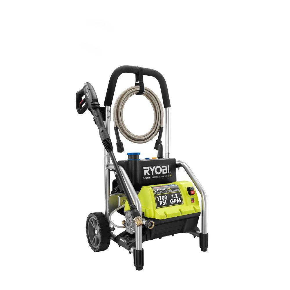 Ryobi Reconditioned 1,700 psi 1.2 GPM Electric Pressure Washer-ZRRY14122 - The