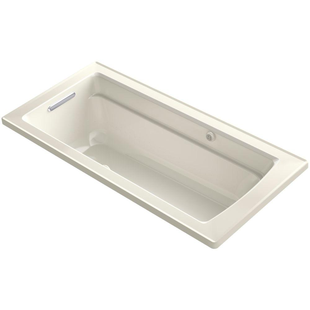 kohler archer 5 5 ft bubblemassage walk in whirlpool and air bath tub