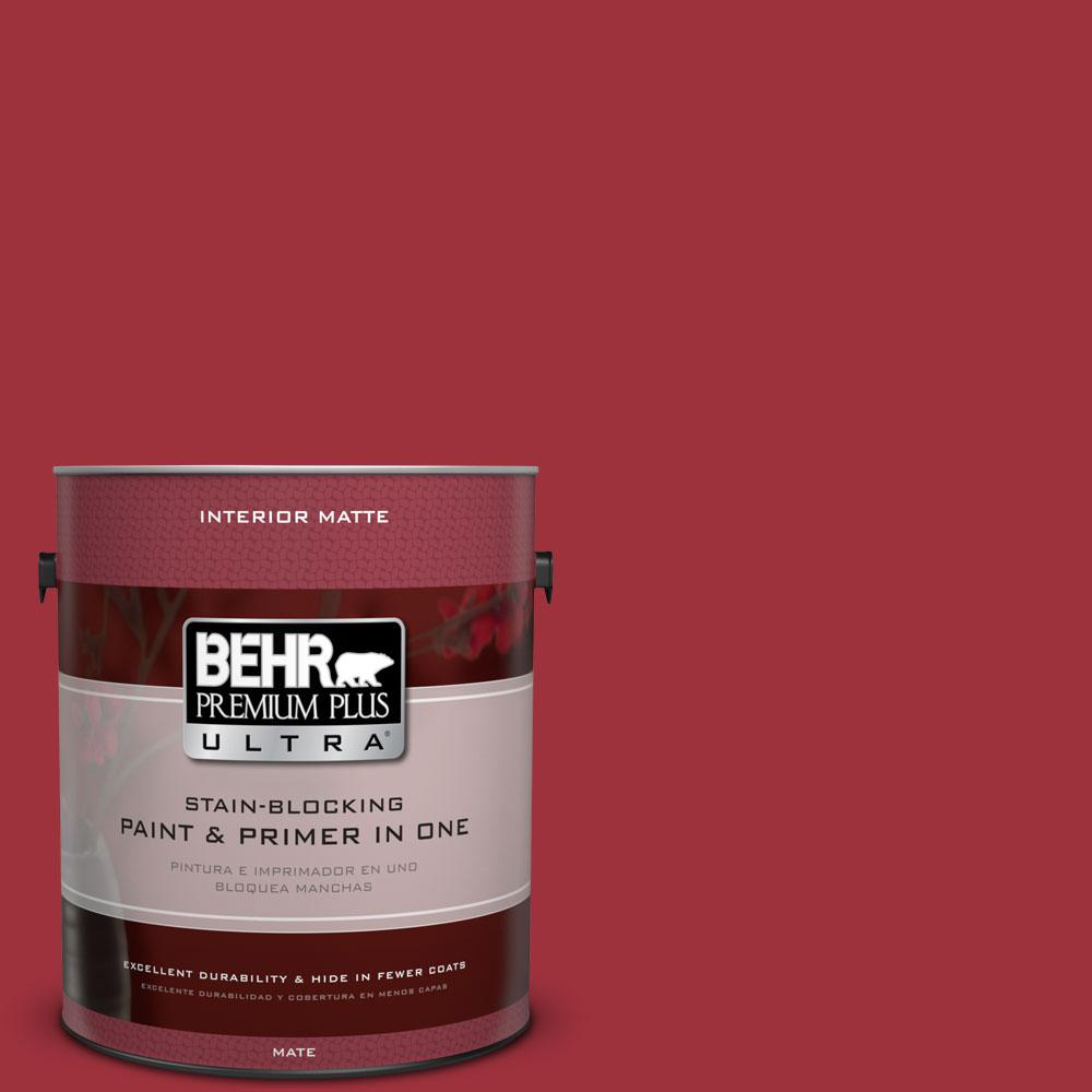 BEHR Premium Plus Ultra 1 gal. #S-G-150 Ruby Ring Flat/Matte Interior Paint