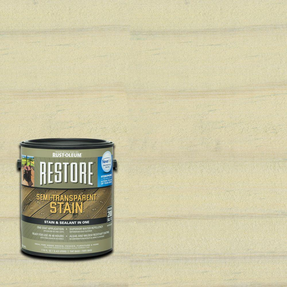 Rust-Oleum Restore 1 gal. Semi-Transparent Stain Sailcloth with NeverWet-291607