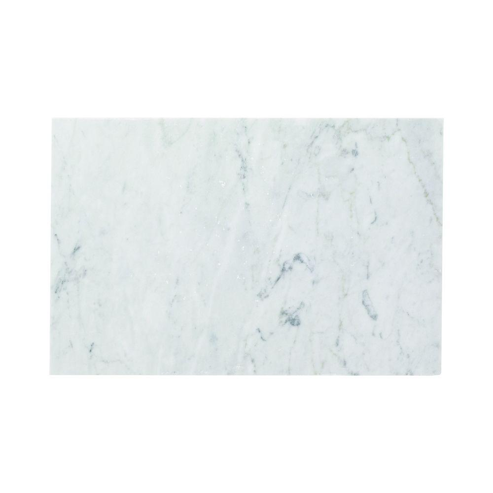 Carrara 8 in. x 12 in. Honed Marble Wall Tile (4