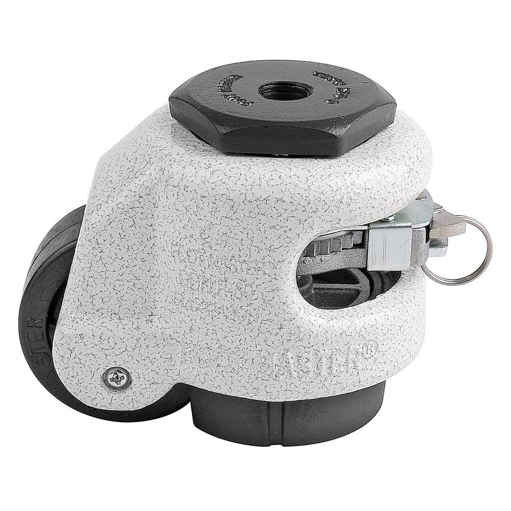 Foot Master 2 in. Nylon Wheel Metric Stem Ratcheting Leveling Caster
