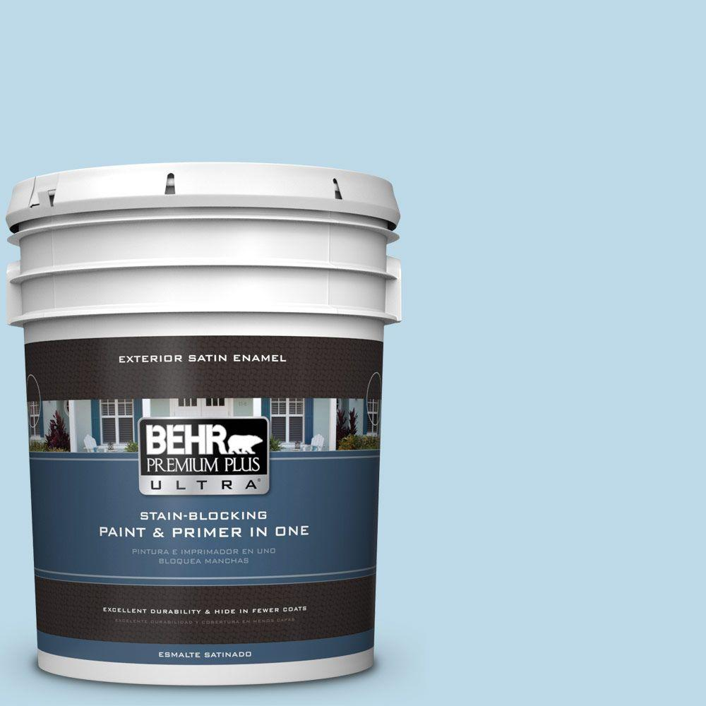 5-gal. #M500-1 Tinted Ice Satin Enamel Exterior Paint