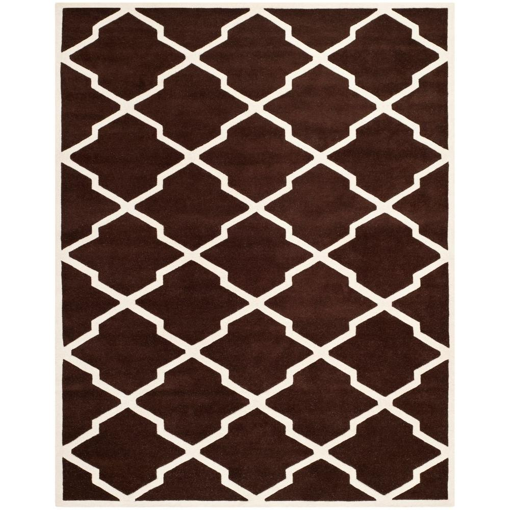 Chatham Dark Brown/Ivory 8 ft. 9 in. x 12 ft. Area