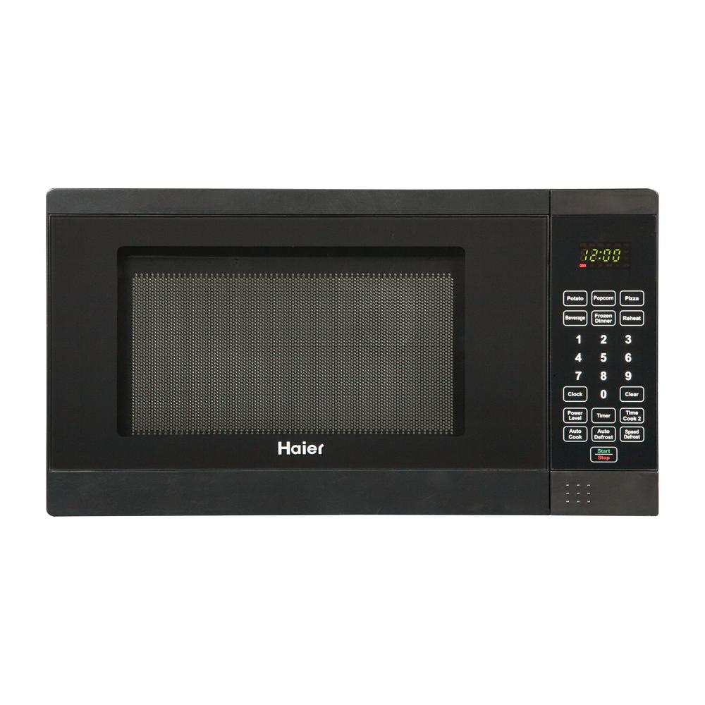 Haier 0.7 cu. ft. Countertop Microwave Black-HMC720BEBB - The Home Depot