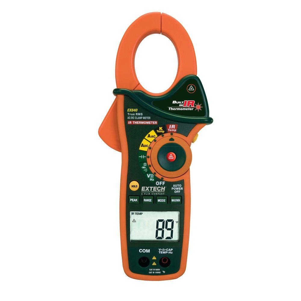 Extech Instruments Manual Clamp Meter AC/DC with Category IV Rating
