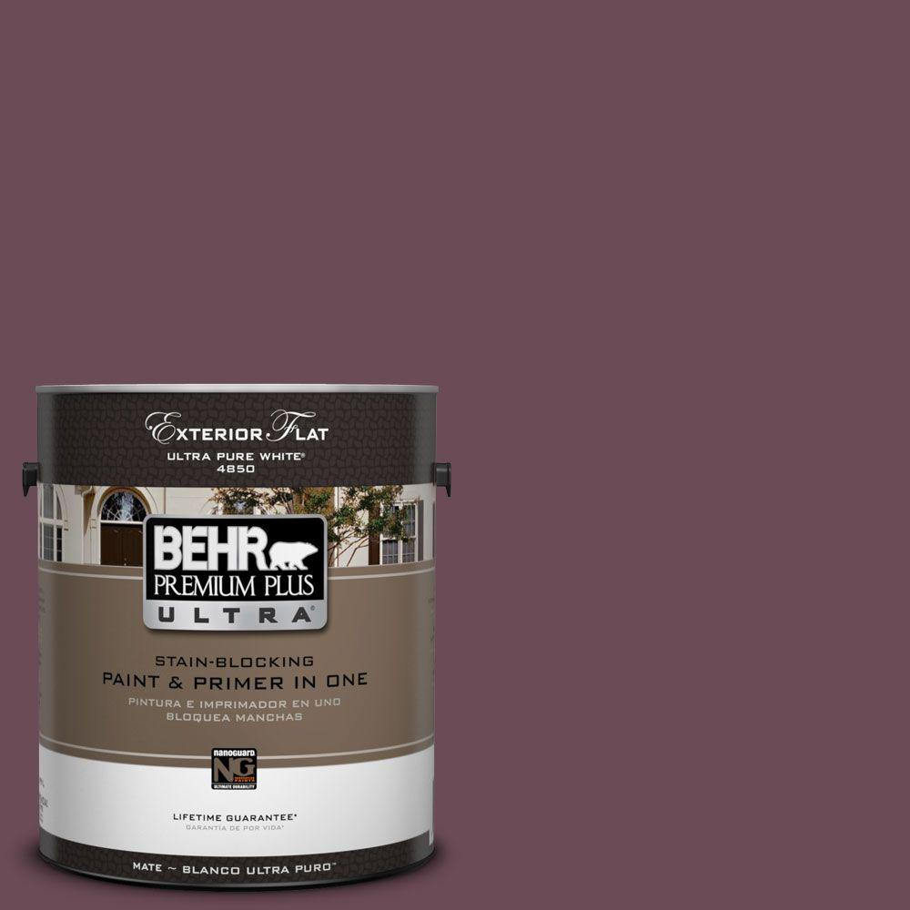 BEHR Premium Plus Ultra 1-Gal. #UL100-22 Spiced Plum Flat Exterior Paint-DISCONTINUED