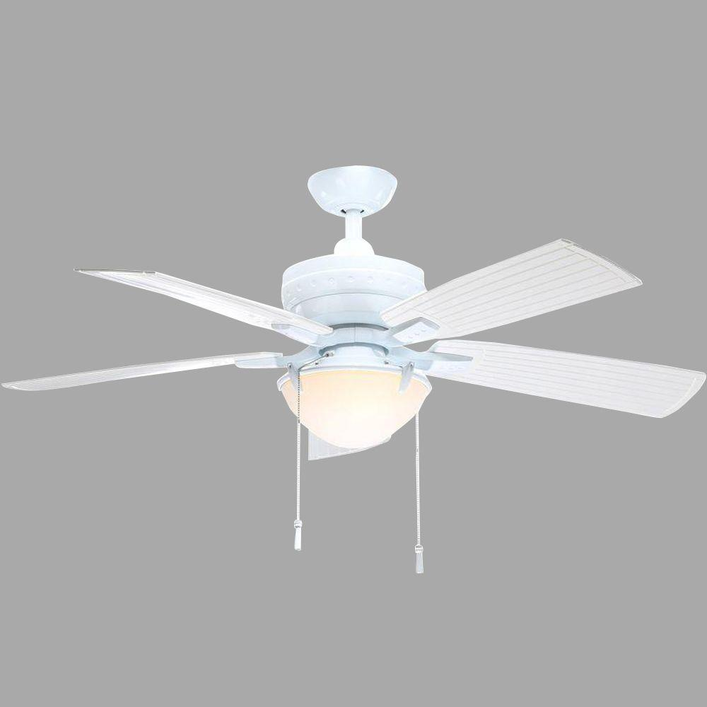 Four Winds 54 in. Indoor/Outdoor White Ceiling Fan with Light Kit
