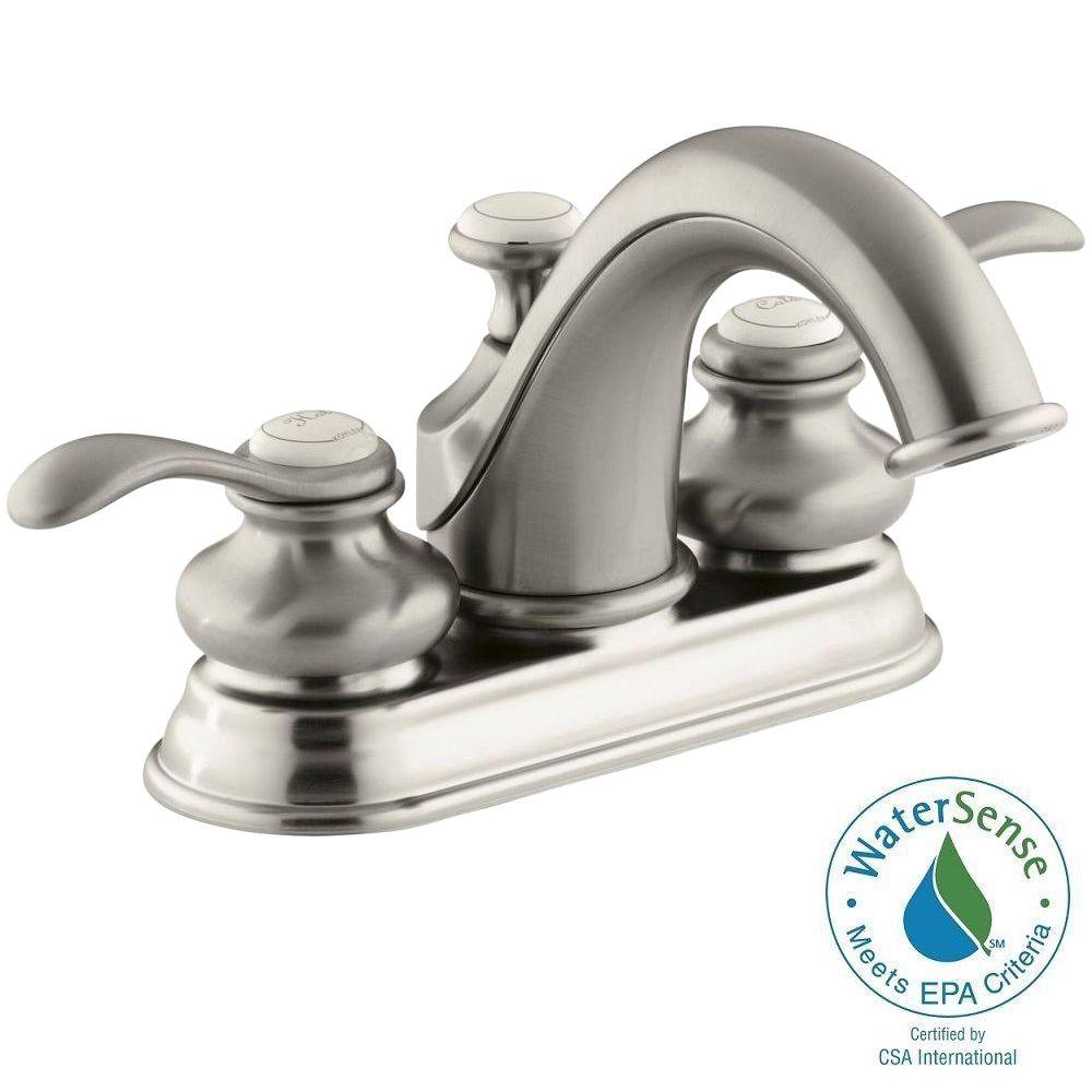 Fairfax 4 in. Centerset 2-Handle Low-Arc Water-Saving Bathroom Faucet in Vibrant