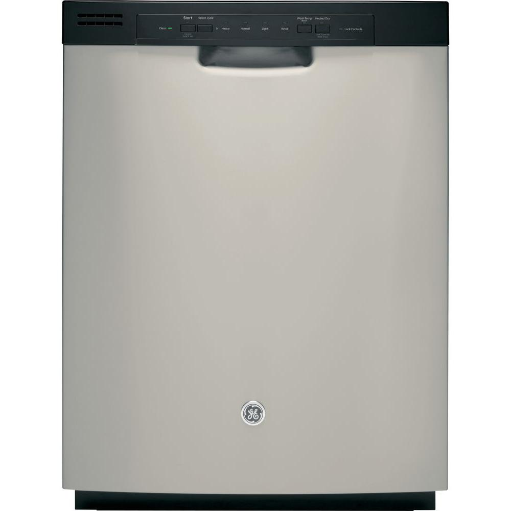 GE Front Control Dishwasher in Silver
