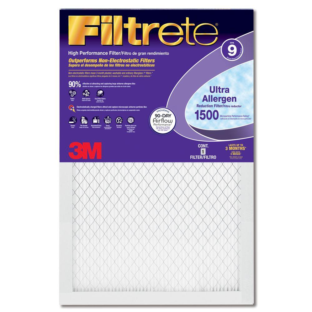 Filtrete 14 in. x 25 in. x 1 in. Ultra Allergen Reduction Purple Pleated FPR 9 Air Filter (Case of 12)-DISCONTINUED