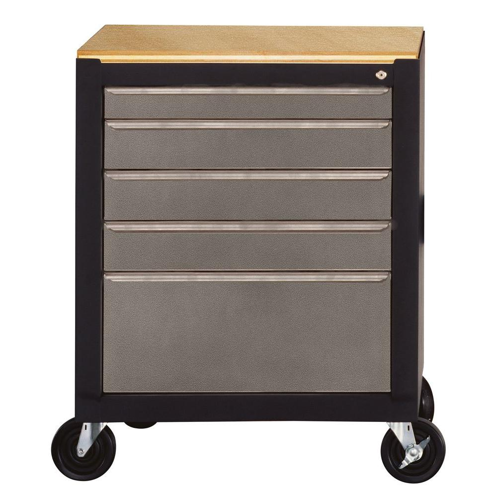 Edsal Silvervein 26.5 in. Mobile Tool Box-COS-SVTBX - The Home Depot
