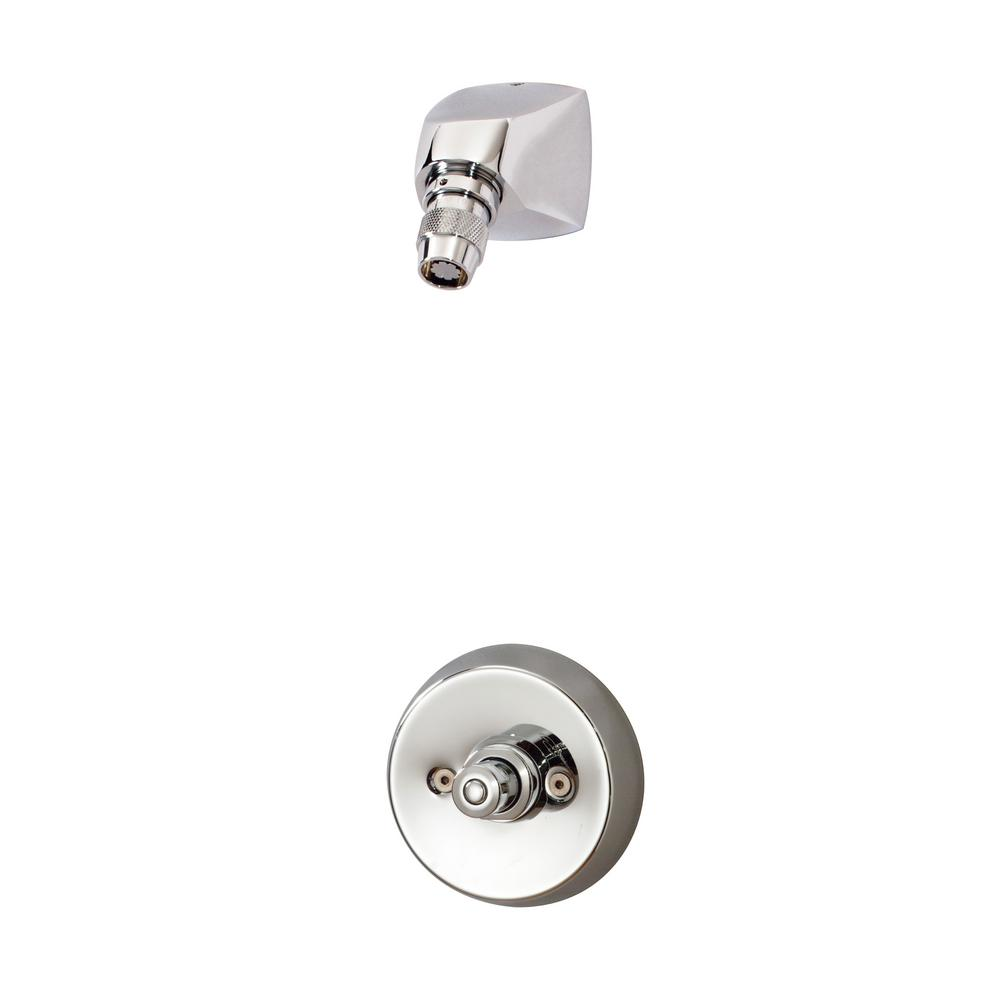 Showeroff 1-Handle 1 Spray Metering Shower Faucet in Chrome