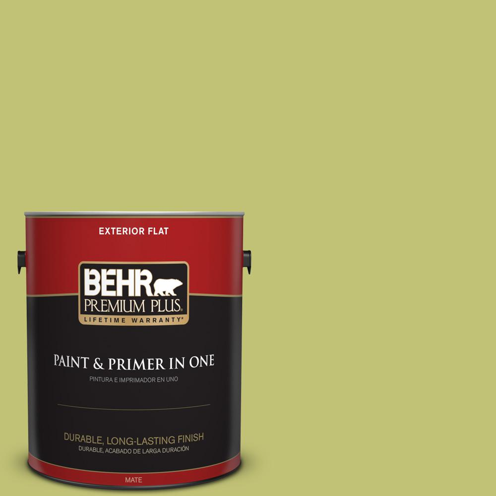 1 gal. #PPU9-07 Fresh Sprout Flat Exterior Paint