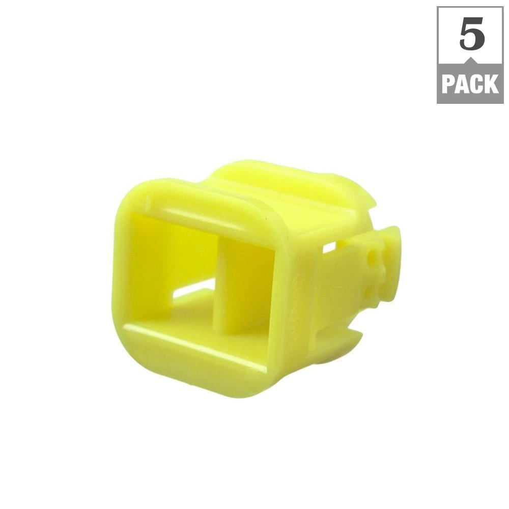 3/8 in. Non-Metallic (NM) Duplex Push-in Cable Connectors (5-Pack)