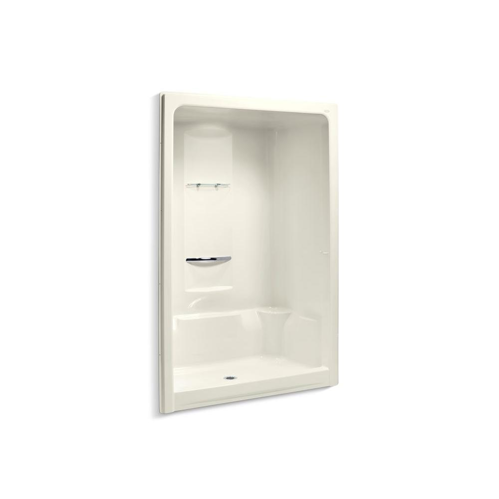 36 in x 90 in shower stall in biscuit k 1688 96 the home depot