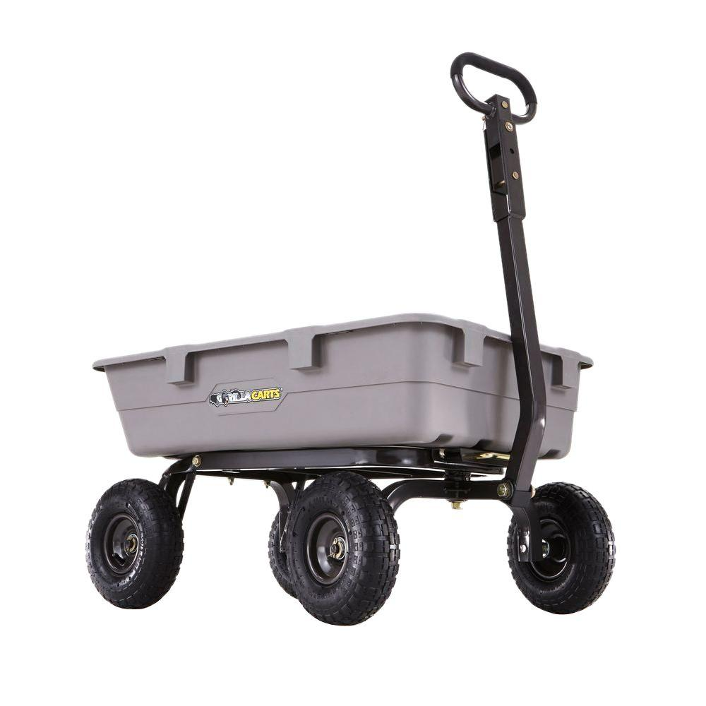 Gorilla Carts 800 lb. Poly Dump Cart-GOR5-COM - The Home Depot