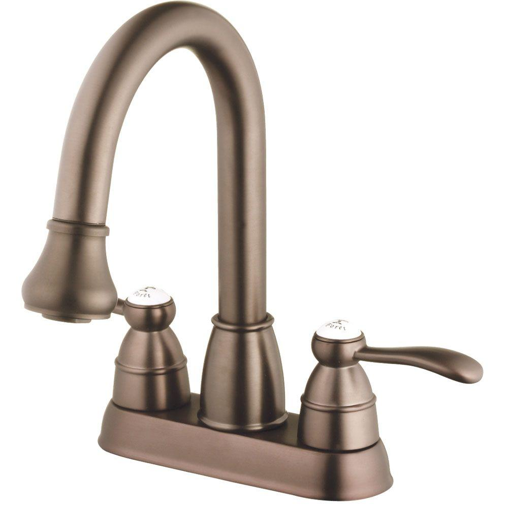 Belle Foret 4 in. Centerset 2-Handle High-Arc Bathroom Faucet in Oil-Rubbed Bronze-DISCONTINUED