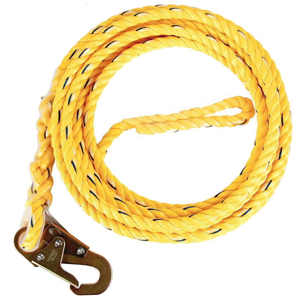 Guardian Fall Protection 5/8 in. x 25 ft. Poly Steel Rope with Snaphook