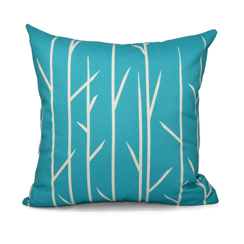 Decorative Pillow Green : 16 in. x 16 in. Floral Decorative Pillow in Green-PFN592GR1-16 - The Home Depot