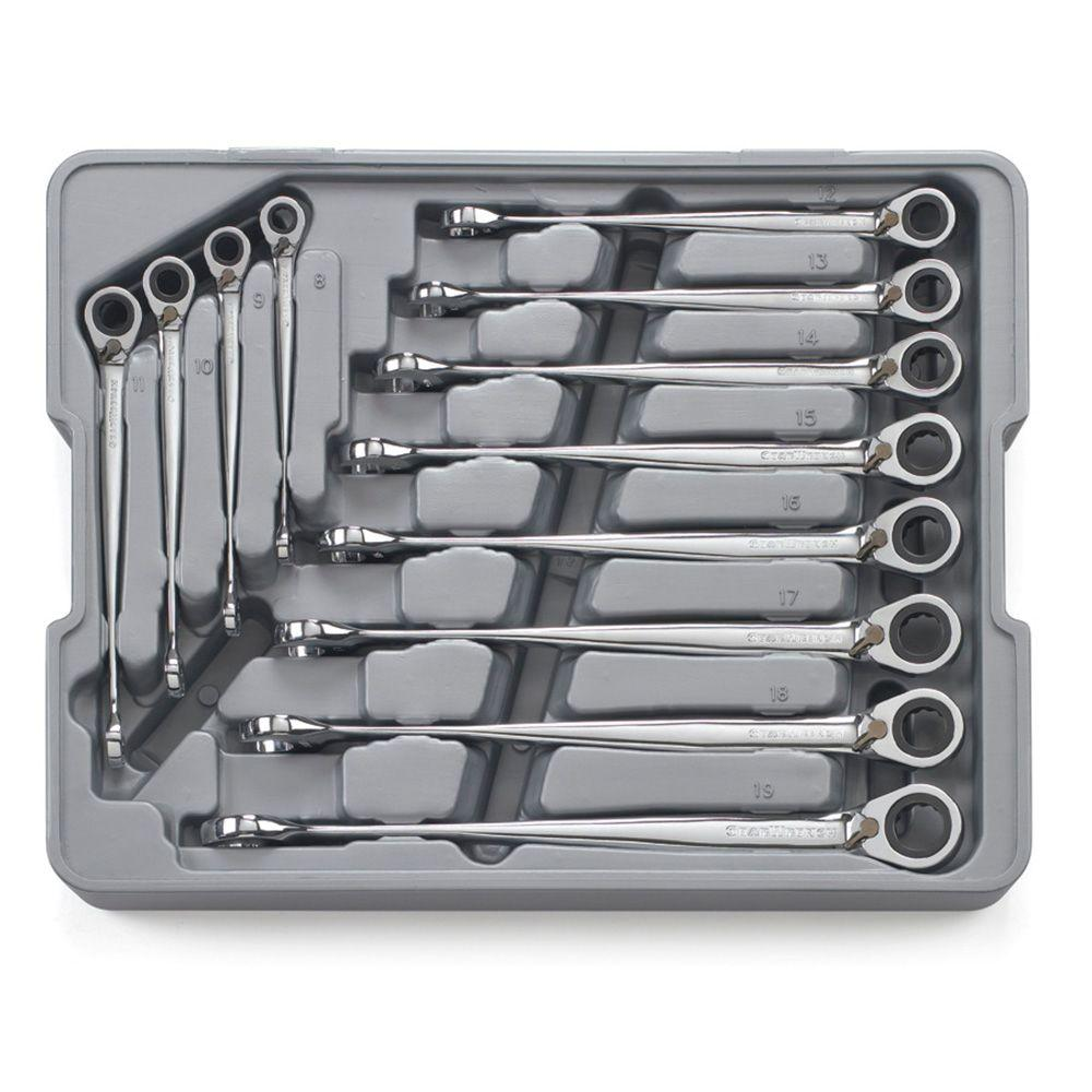 X-Beam Reversible Combination Ratcheting Wrench Set (12-Piece)