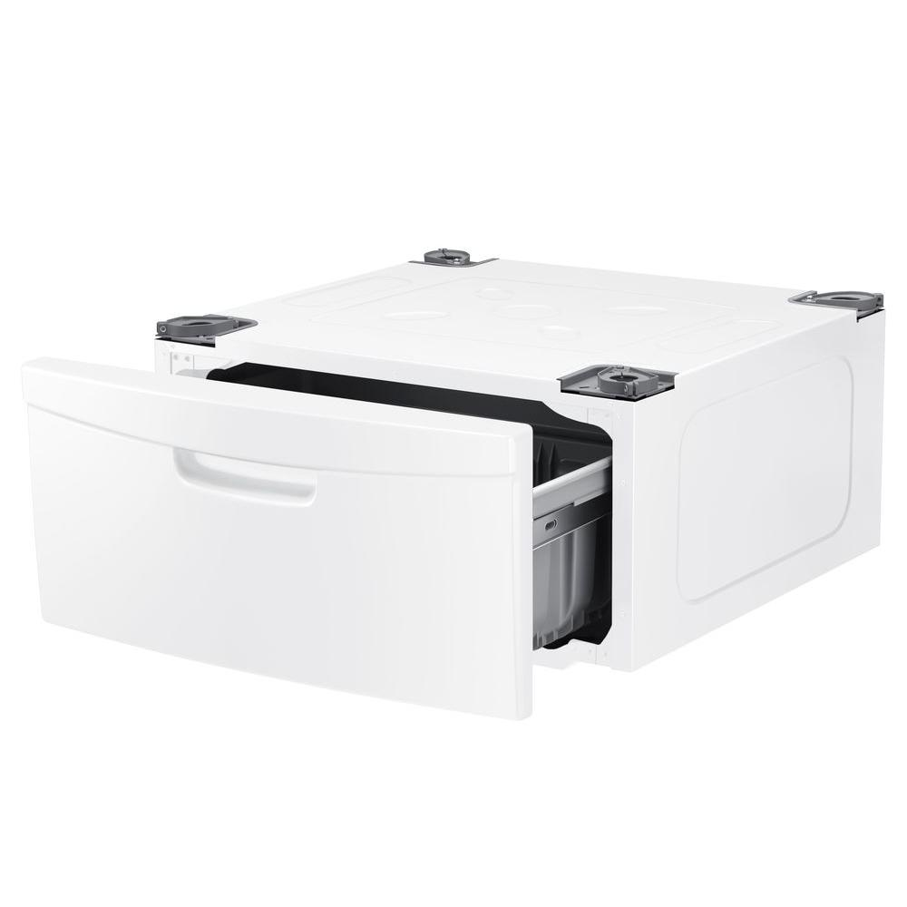 Samsung Laundry Pedestal with Storage Drawer in White