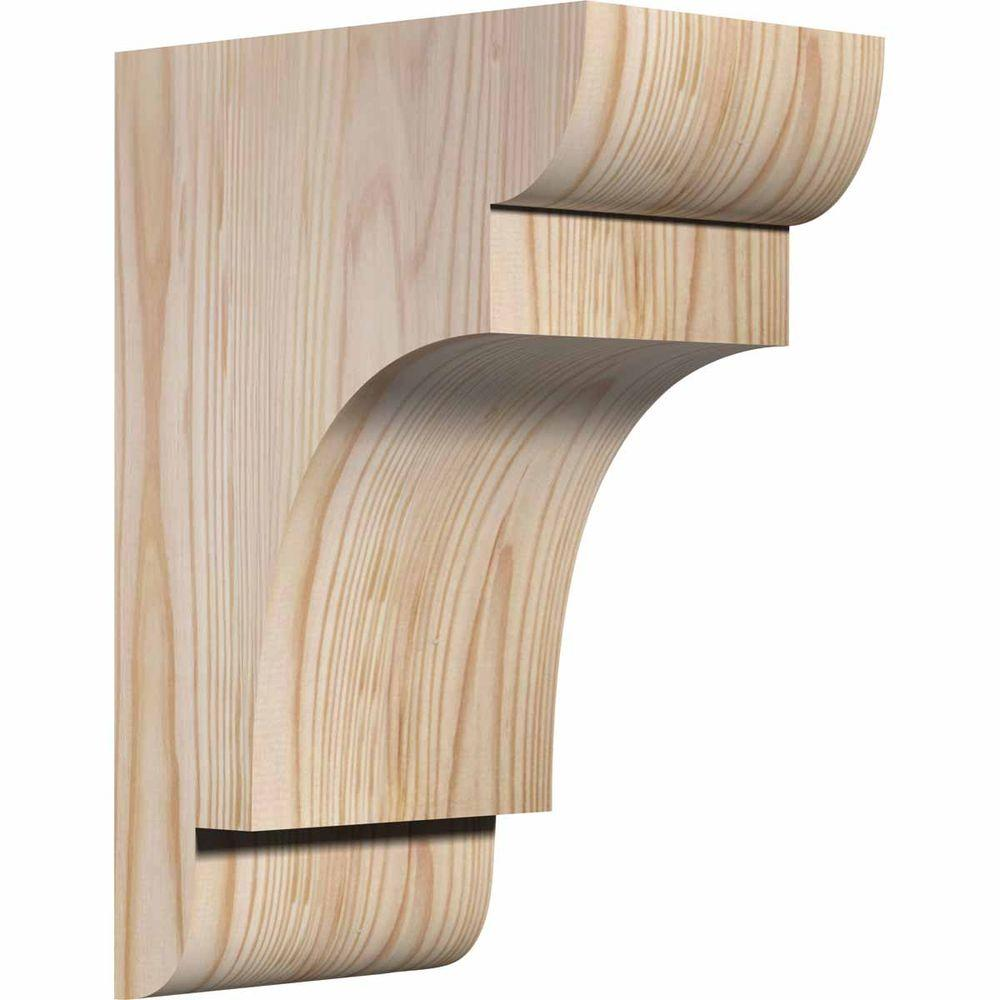 Corbels: Ekena Millwork Building Materials 5-1/2 in. x 8 in. x 12 in. Douglas Fir New Brighton Smooth Corbel COR06X08X12NEB00SDF