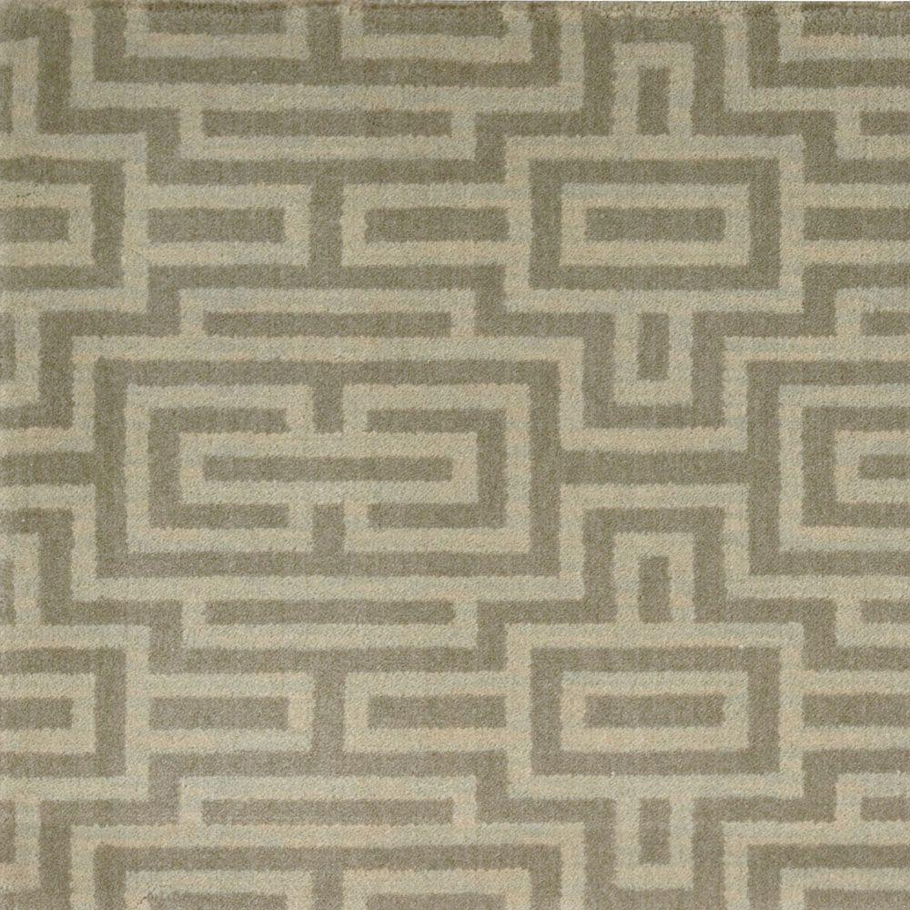 Nourtex grid color taupe 13 ft carpet 284921 the home for Taupe color carpet