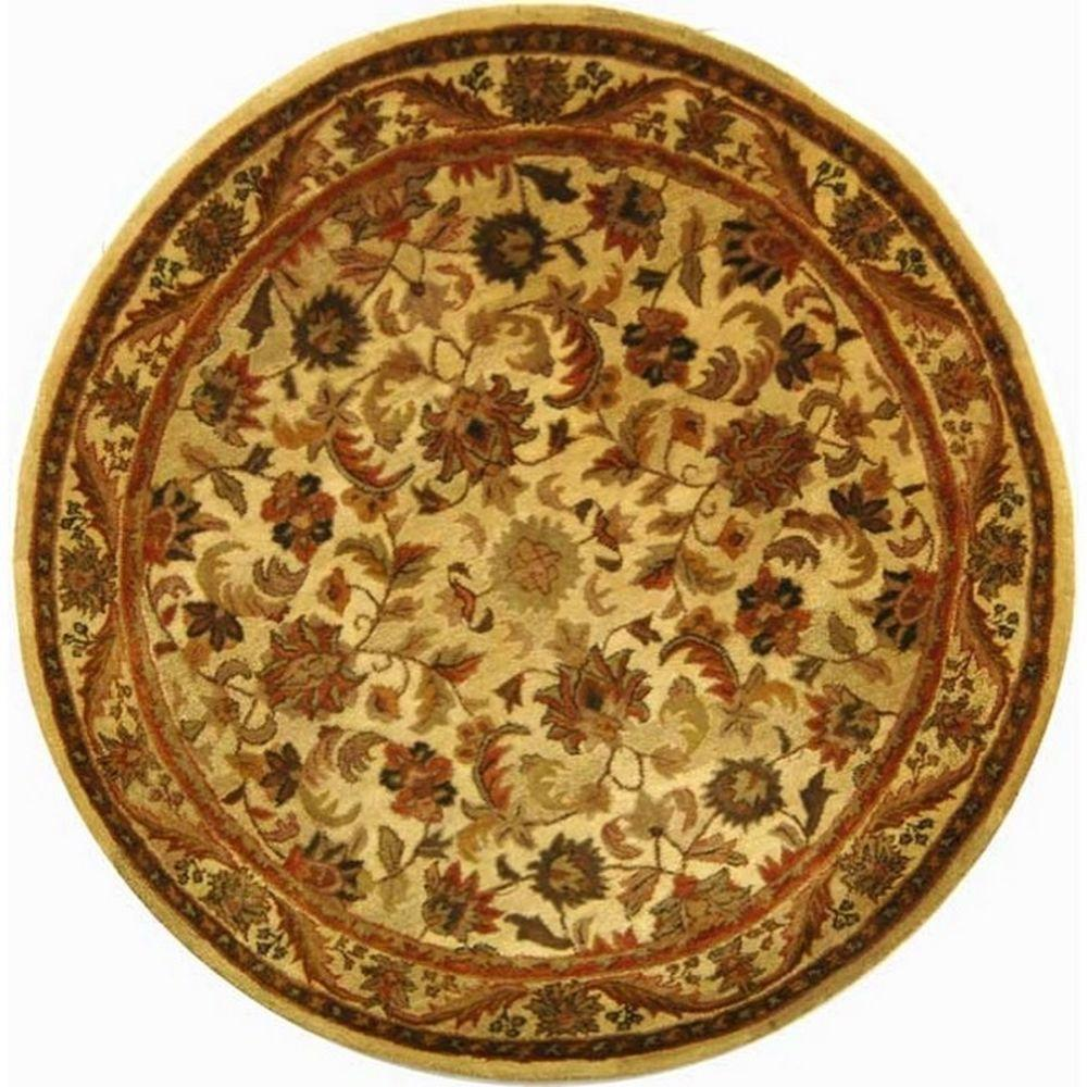 Safavieh Antiquity Gold 8 ft. Round Area Rug-AT52D-8R - The Home
