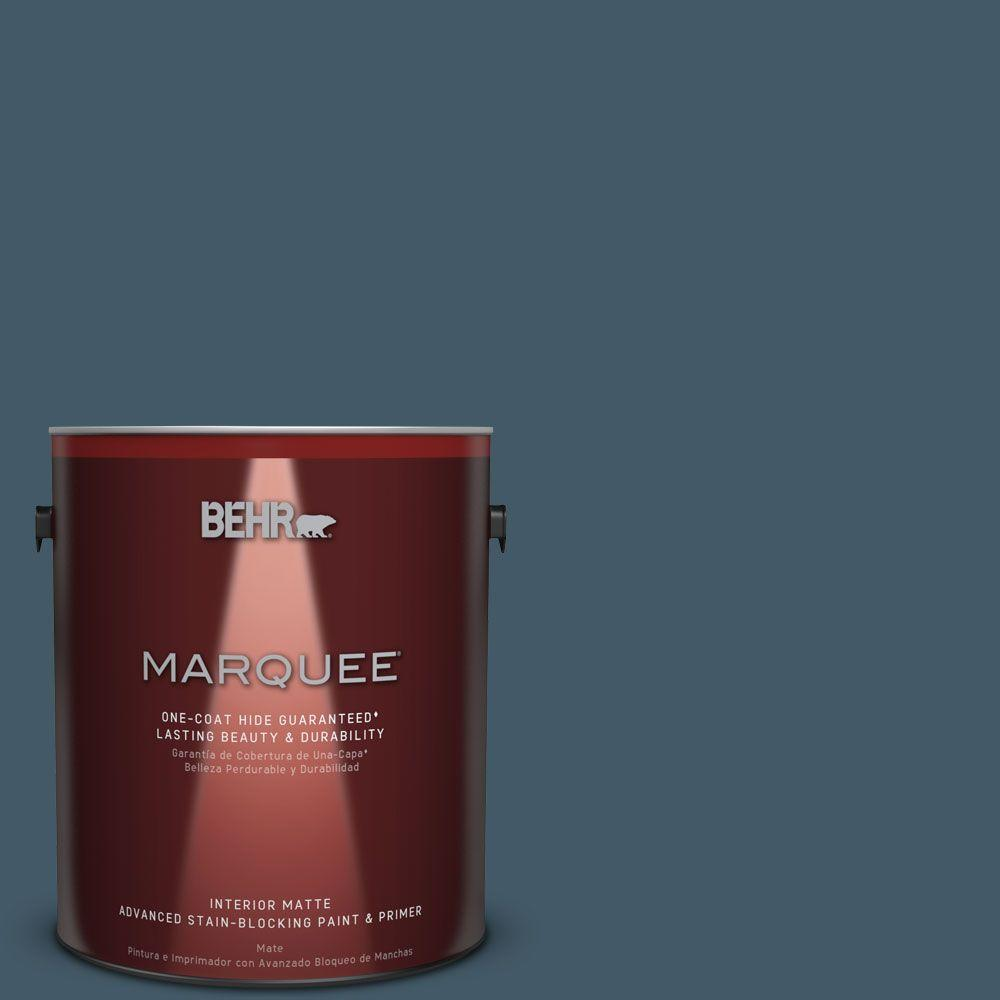 1 gal. #S480-7 Midnight in the Tropics One-Coat Hide Matte Interior