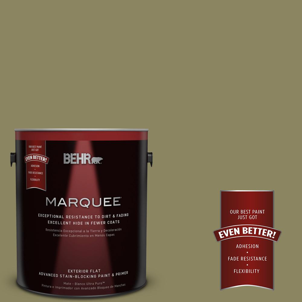1-gal. #S350-5 Green Scene Flat Exterior Paint