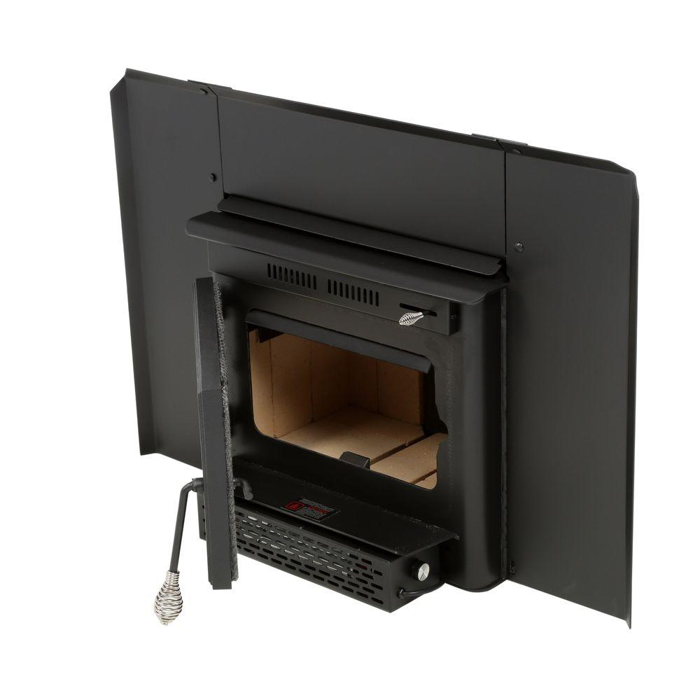 Wood-Burning Fireplace Insert-13-NCI - The Home Depot - Englander 27.5 In. 1500 Sq. Ft. Wood-Burning Fireplace Insert-13