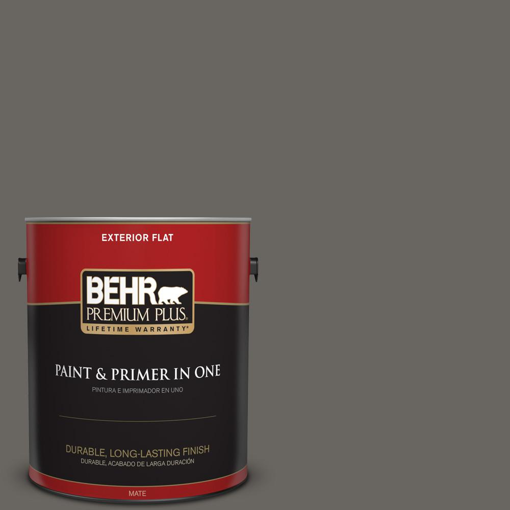 1 gal. #PPU24-03 Chinchilla Flat Exterior Paint